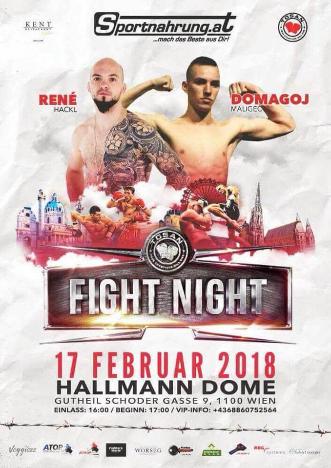 Ekipa Team Nokauta u subotu nastupa na Fight Night u Beču